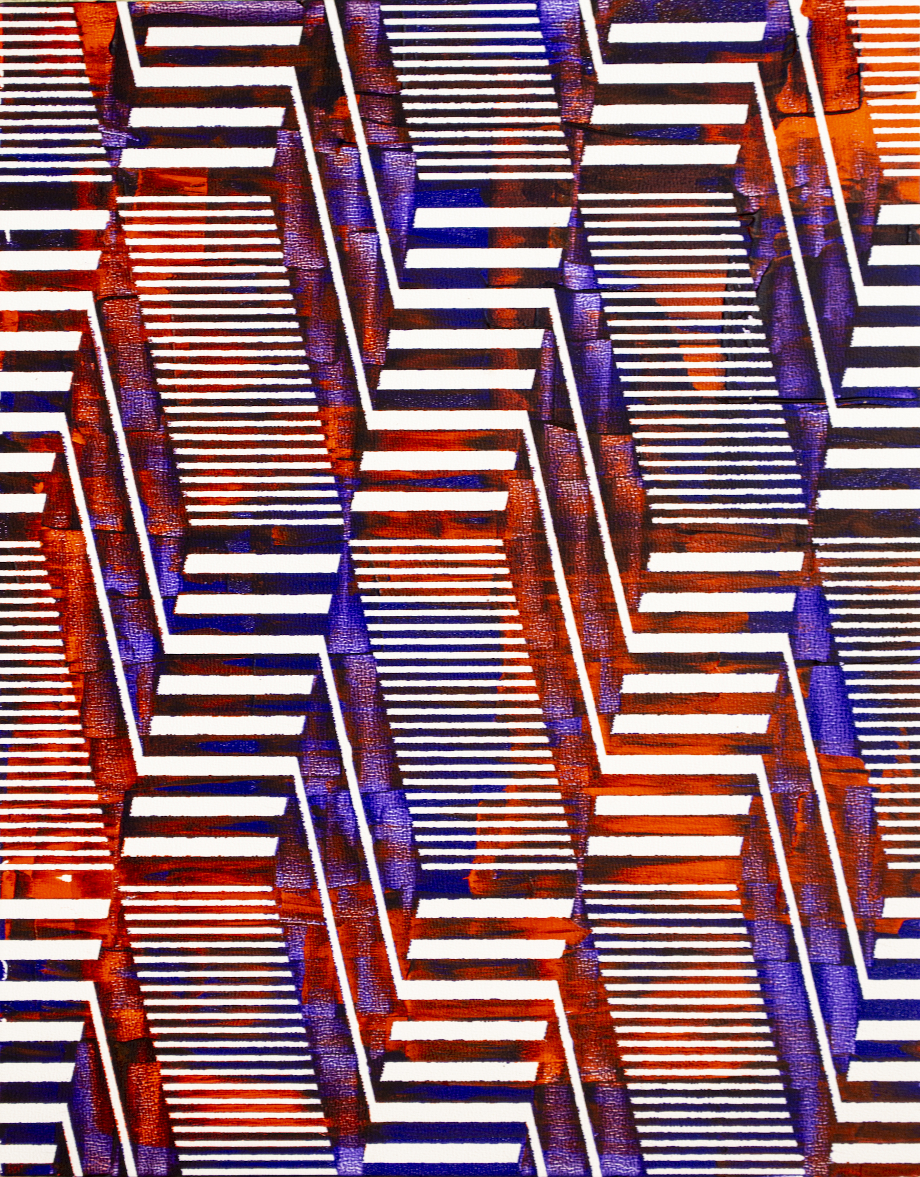 HUE Gallery of Contemporary Art - Sean Christopher Ward - Evolving Metropolis - Acrylic on MDF - 11x14 - 2018 - $300.jpg