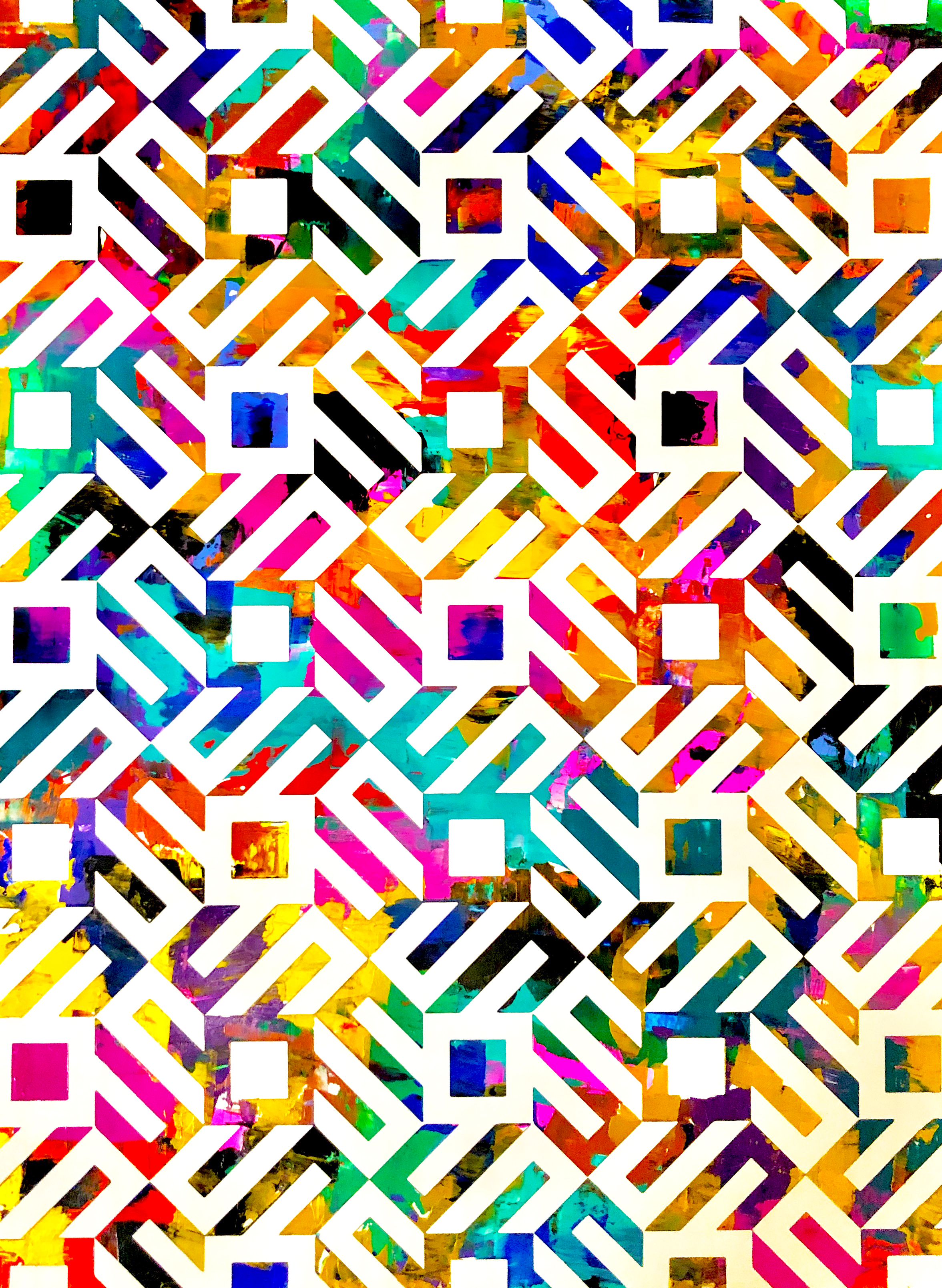 HUE Gallery of Contemporary Art - Sean Christopher Ward - Floating Squares - Acrylic on MDF - 12x16 - 2018 - $375.JPG