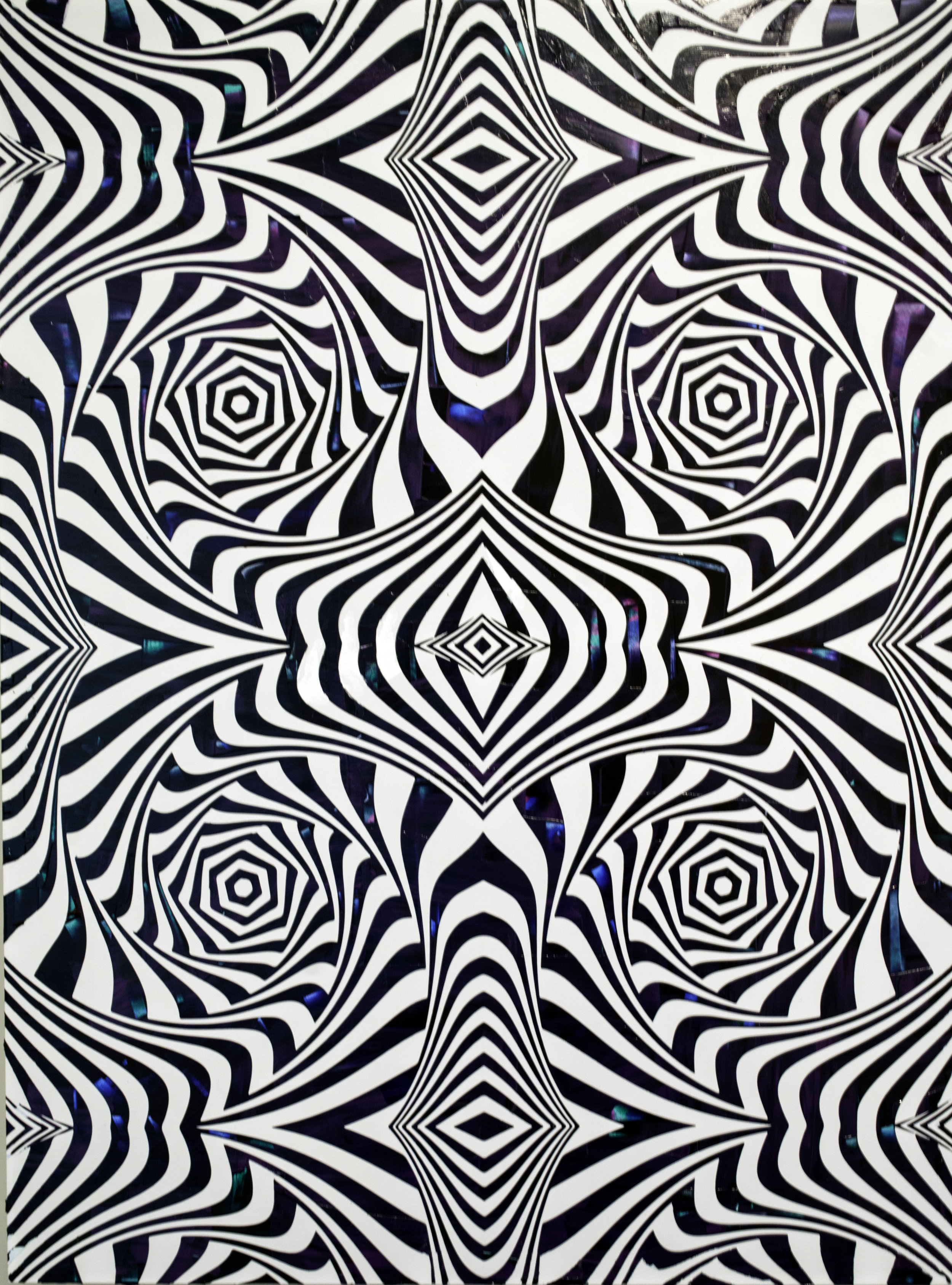 HUE Gallery of Contemporary Art - Sean Christopher Ward - Hallucinogen - Acrylic on Wood Panel - 18x24x1.5 - 2019 - $850.jpg
