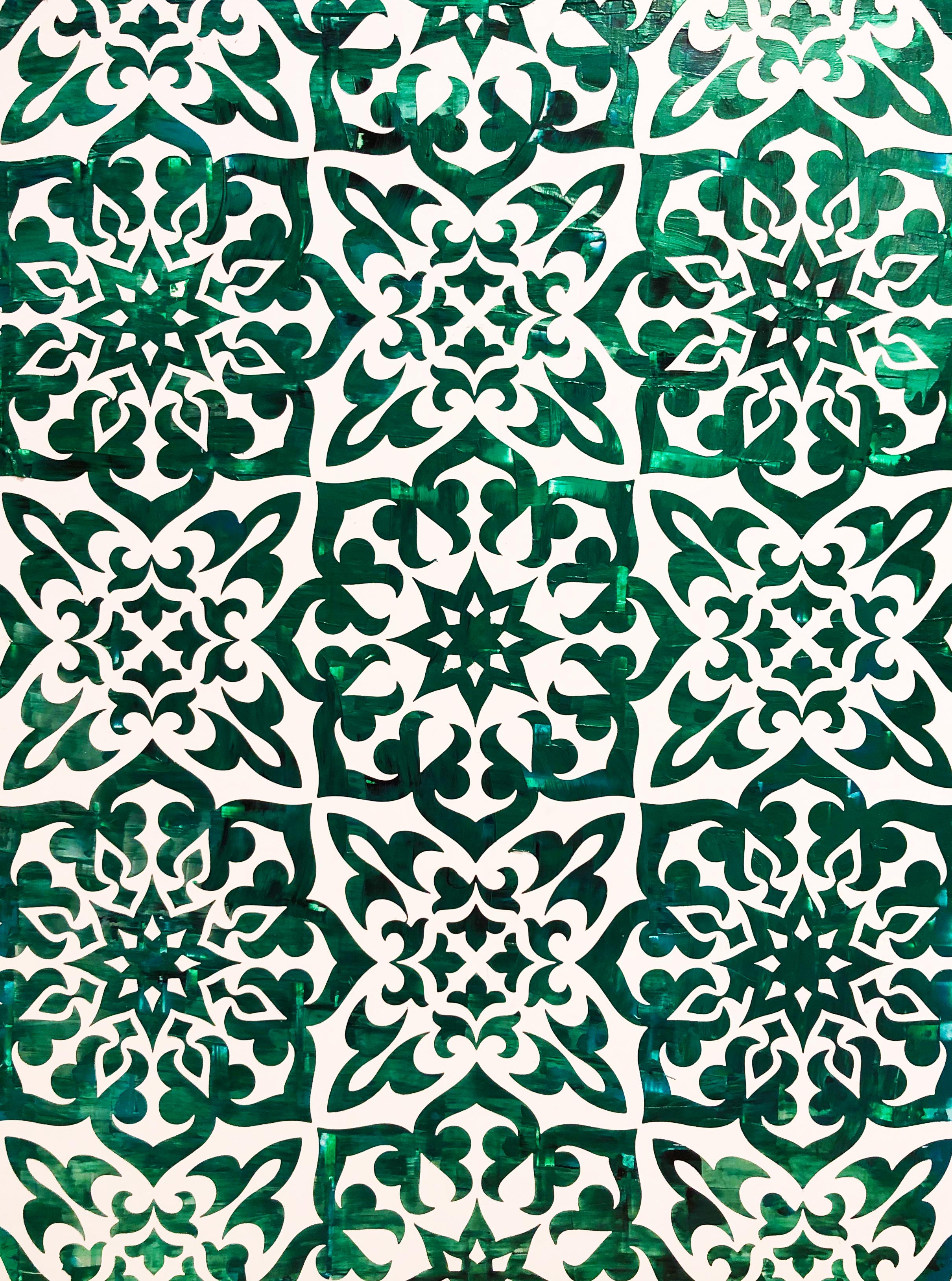 HUE Gallery of Contemporary Art - Sean Christopher Ward - Islamic Nights- Acrylic on MDF - 12x16 - 2018 - $450.JPG