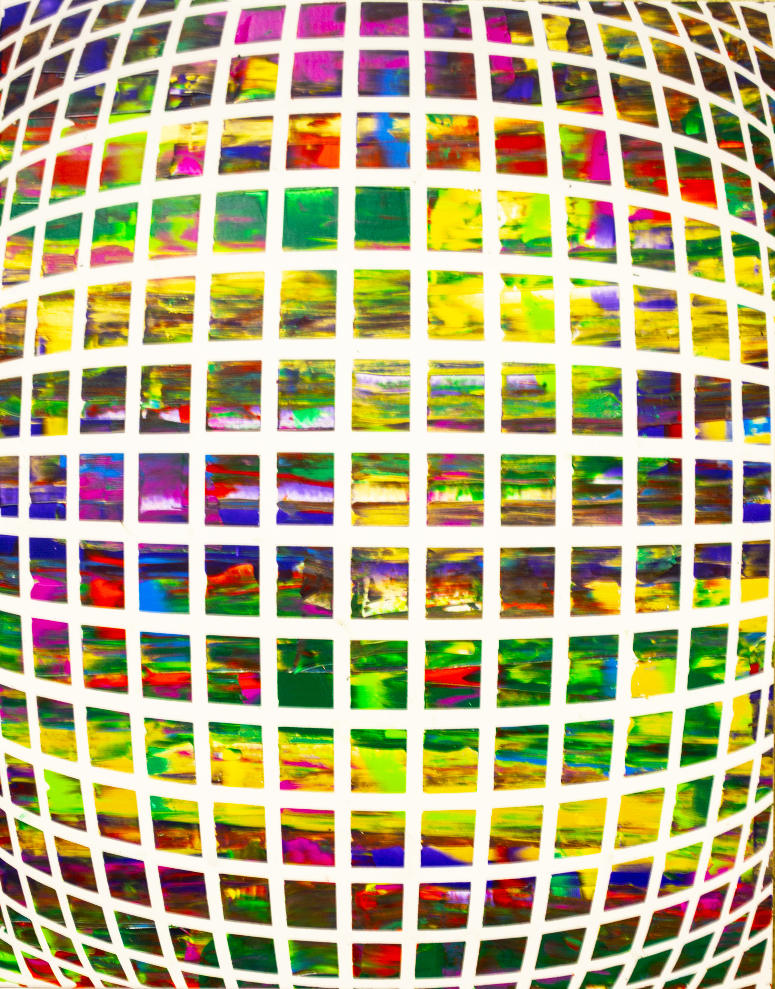 HUE Gallery of Contemporary Art - Sean Christopher Ward - Planet Disco - Acrylic on MDF - 11x14 - 2018 - $300.jpg