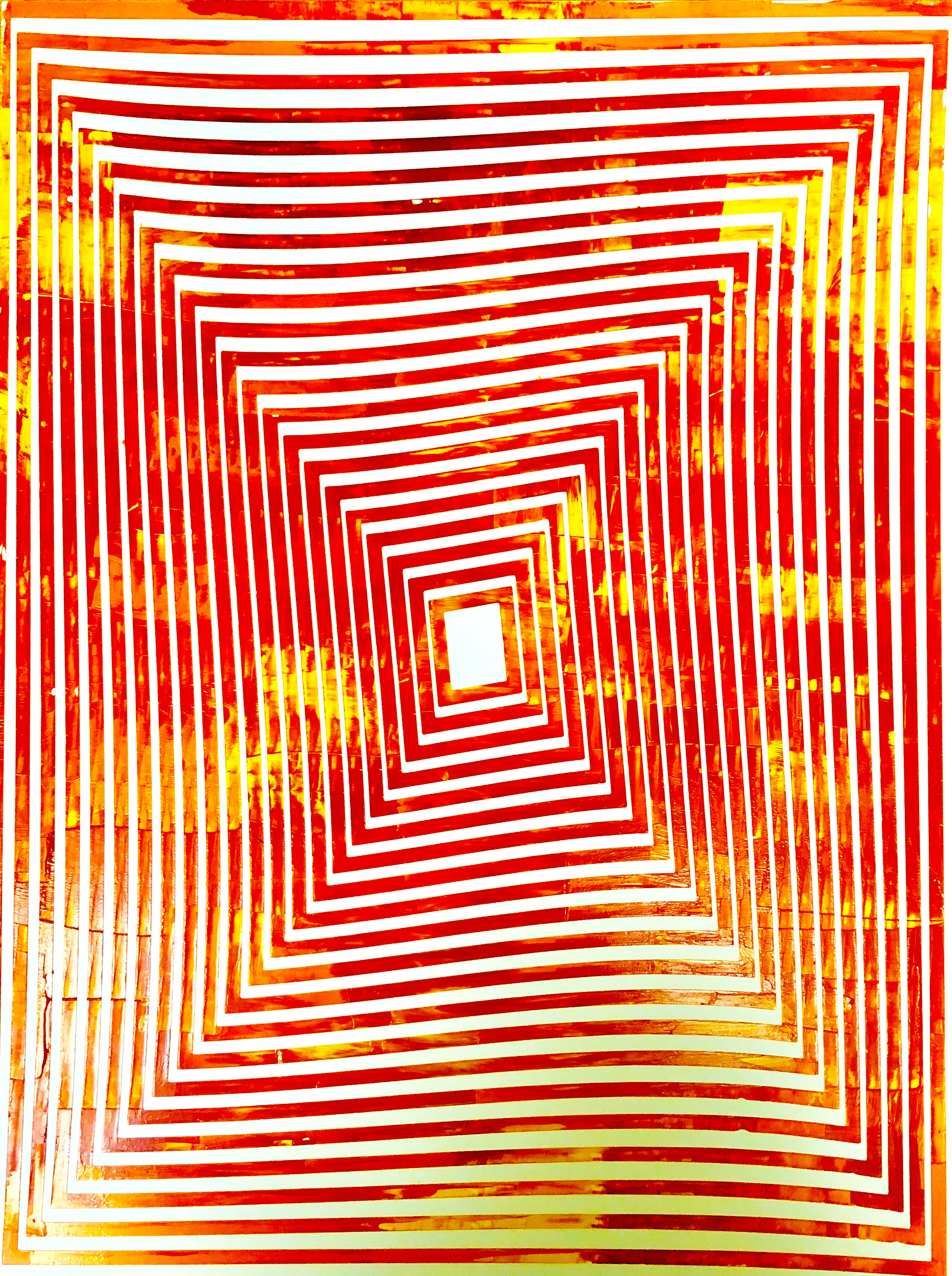 HUE Gallery of Contemporary Art - Sean Christopher Ward - Purgatory - Acrylic on MDF - 12x16 - 2018 - $375.JPG