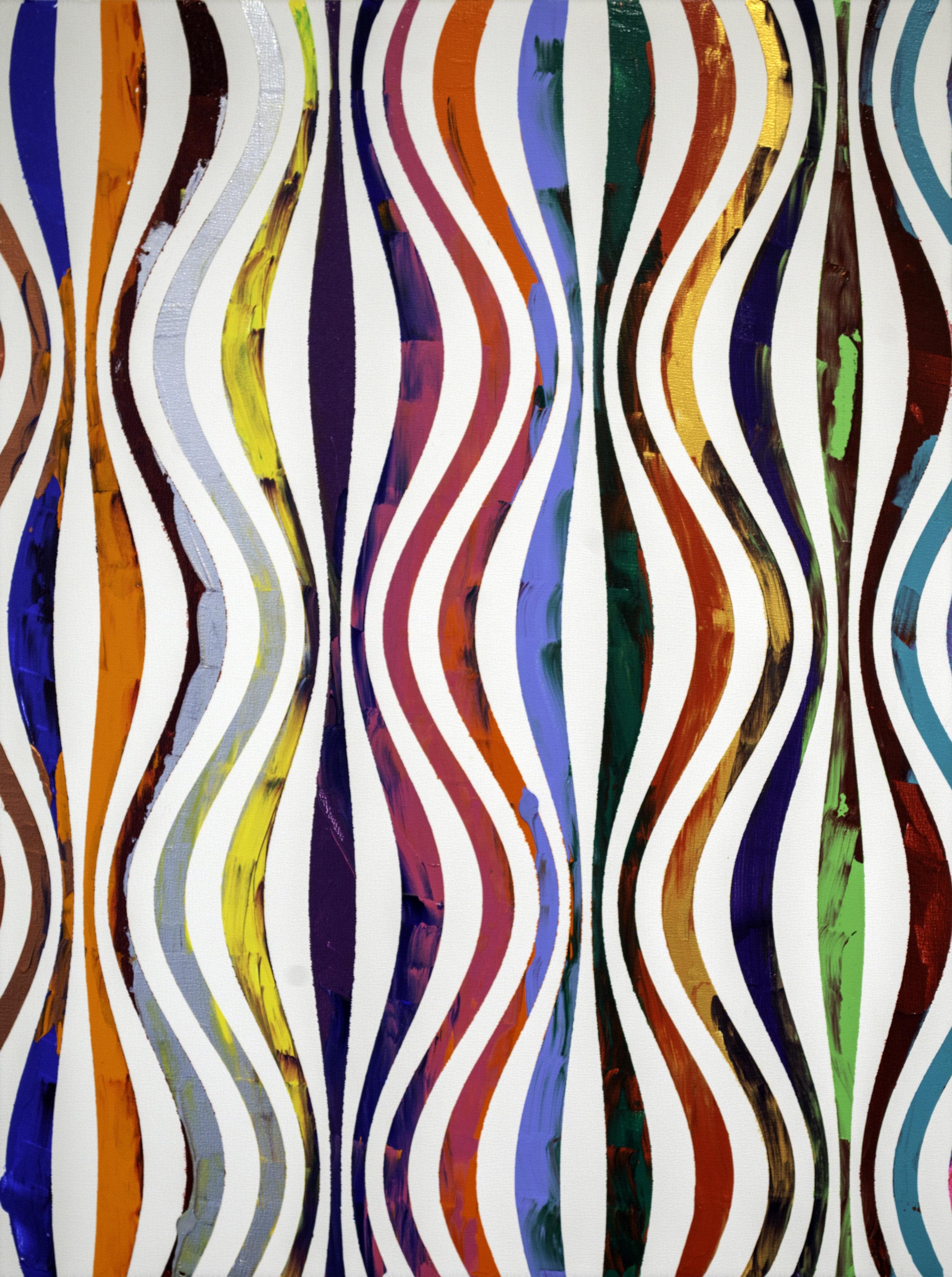 "HUE Gallery of Contemporary Art - Sean Christopher Ward - Spectrum Waves - Acrylic on MDF - 12""x16""x0.38"" - 2019 - $375.jpg"