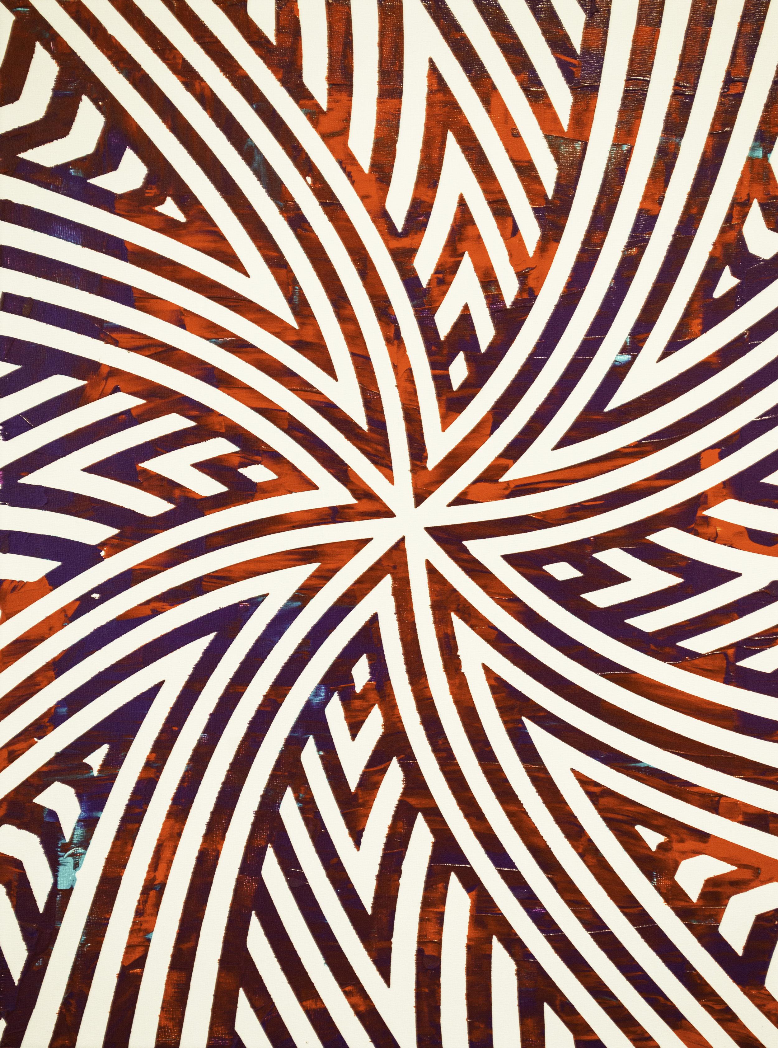 HUE Gallery of Contemporary Art - Sean Christopher Ward - Spinning - Acrylic on MDF - 12x16 - 2019 - $375.jpg