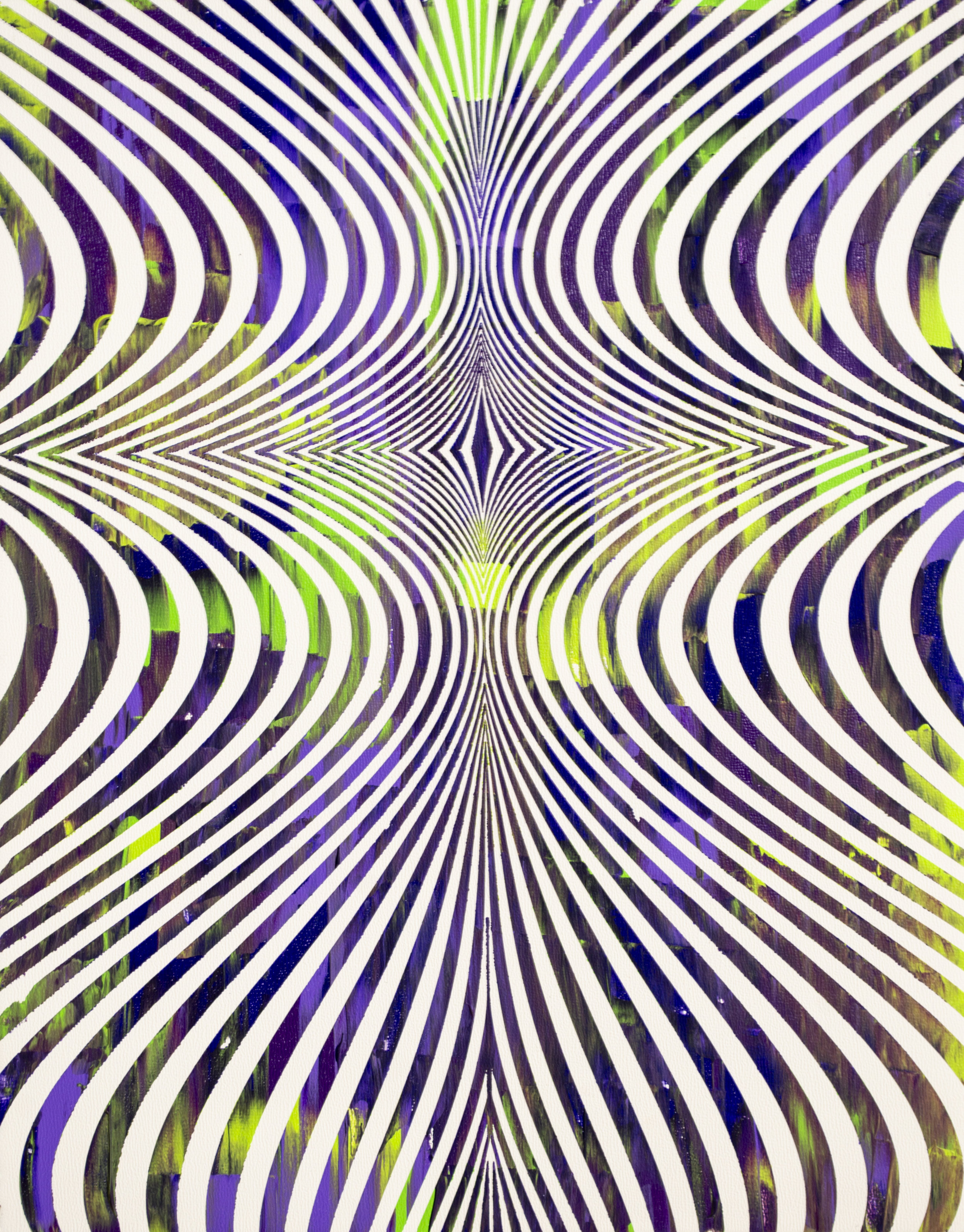HUE Gallery of Contemporary Art - Sean Christopher Ward - The Hookah - Acrylic on MDF - 11x14 - 2018 - $300.jpg