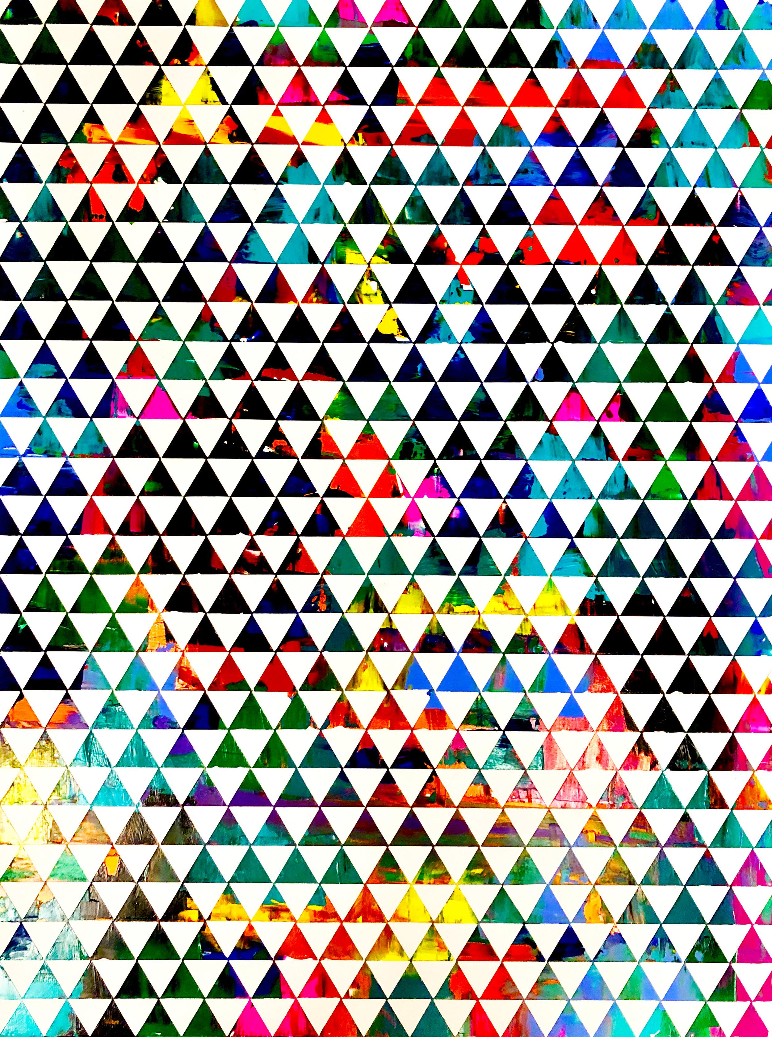 HUE Gallery of Contemporary Art - Sean Christopher Ward - Triangulation - Acrylic on MDF - 12x16 - 2018 - $375.JPG