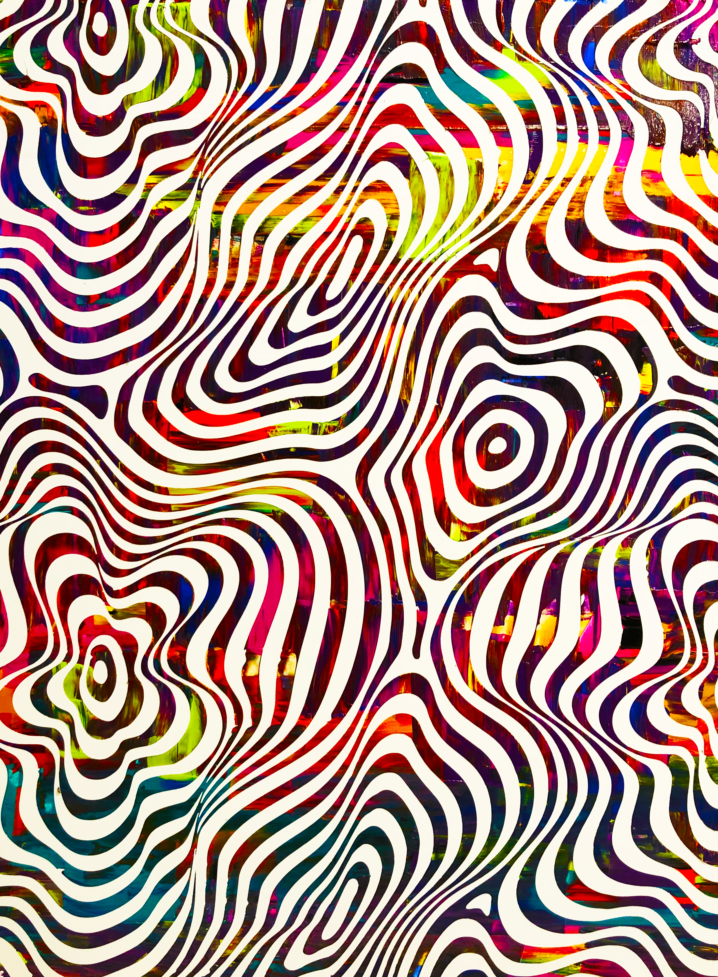 HUE Gallery of Contemporary Art - Sean Christopher Ward - Twisting and Turning - Acrylic on MDF - 12x16 - 2018 - $375.JPG
