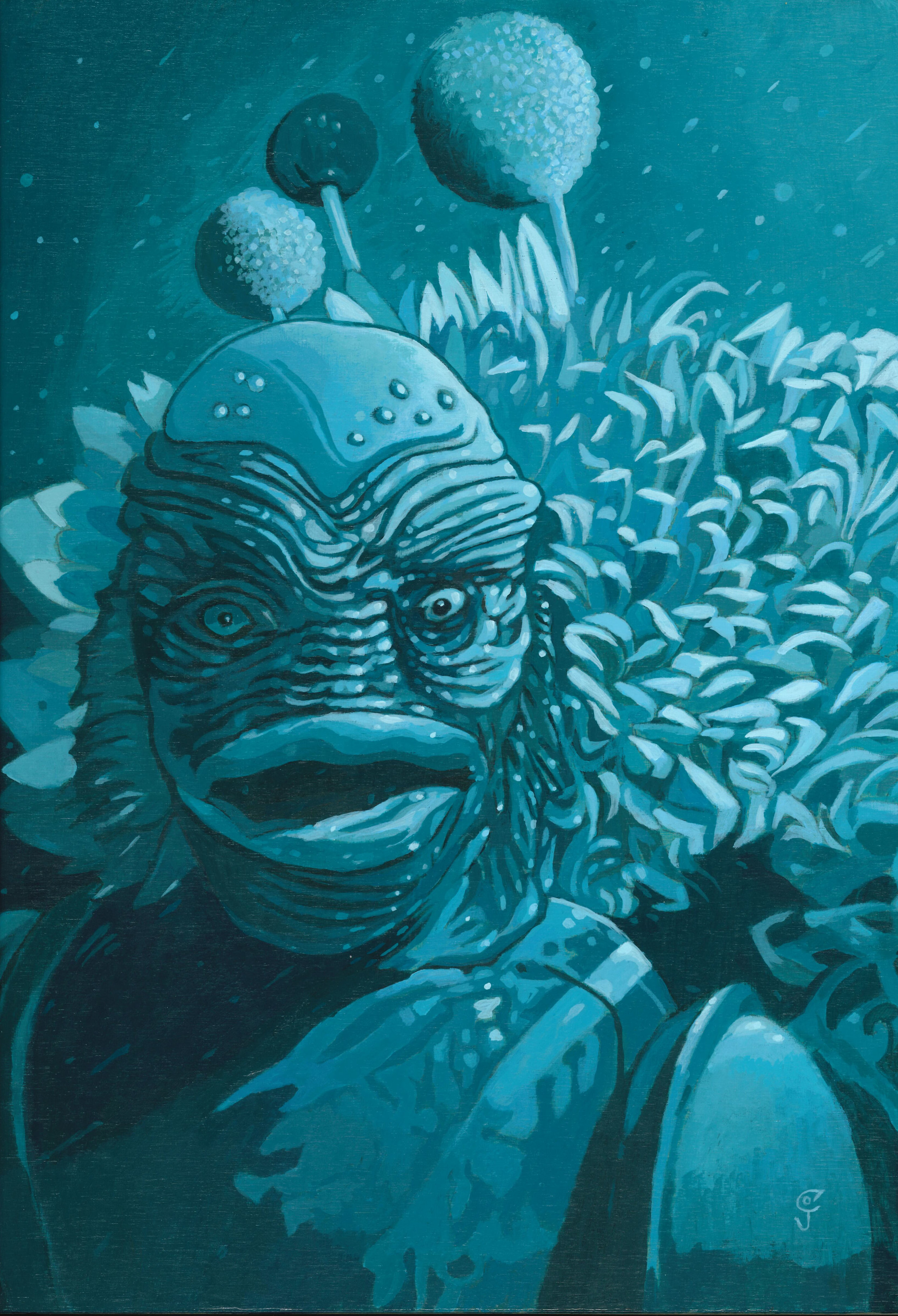 Christopher Olson-Creature from the Black Lagoon-Acrylic-12x16in-2015-$1400.00.jpg