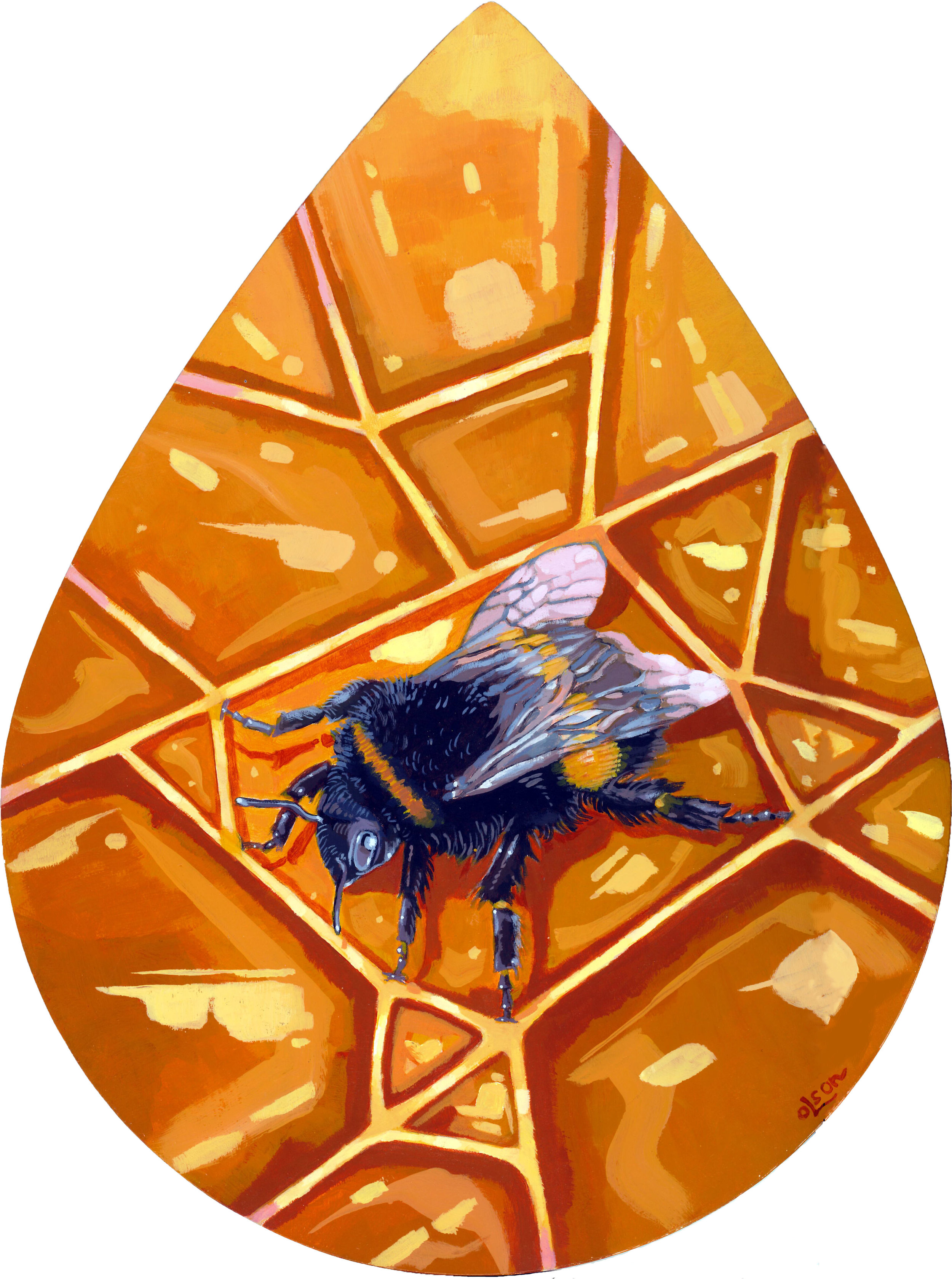 Christopher Olson-Honey Comb-Acrylic-11x14in.-2018-$400.00.jpg