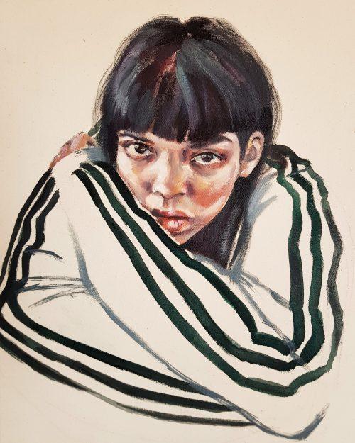 AmaiaMarzabal - PeopleOfBrooklyn - oil -15x18- 2018 - $900.jpg