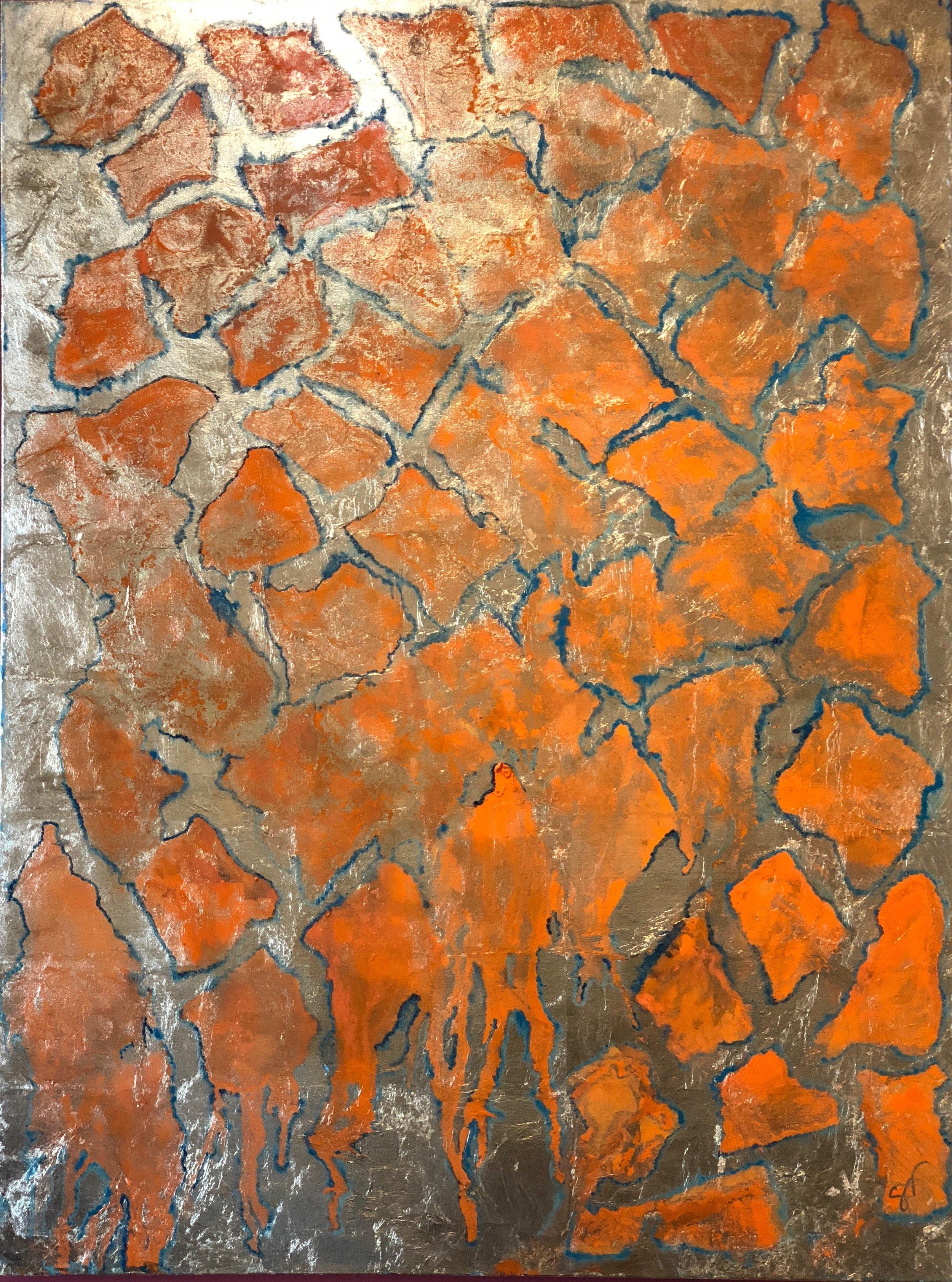 Carolyn Brann - Solid Gold No. 1 - gold leaf, oil on canvas - 36_ 48_ - 2018 - $1,700.jpg