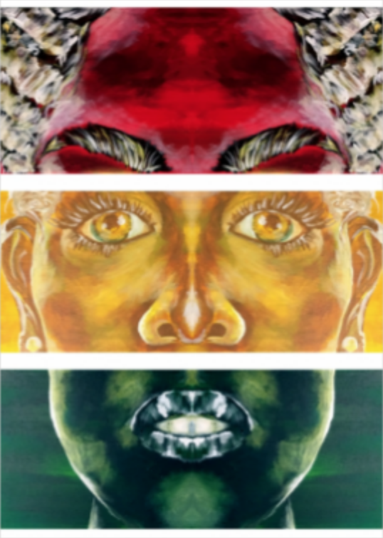 YaniPaints - Double Face -  Canvas Print - 5x7 - 2018 - $50.png