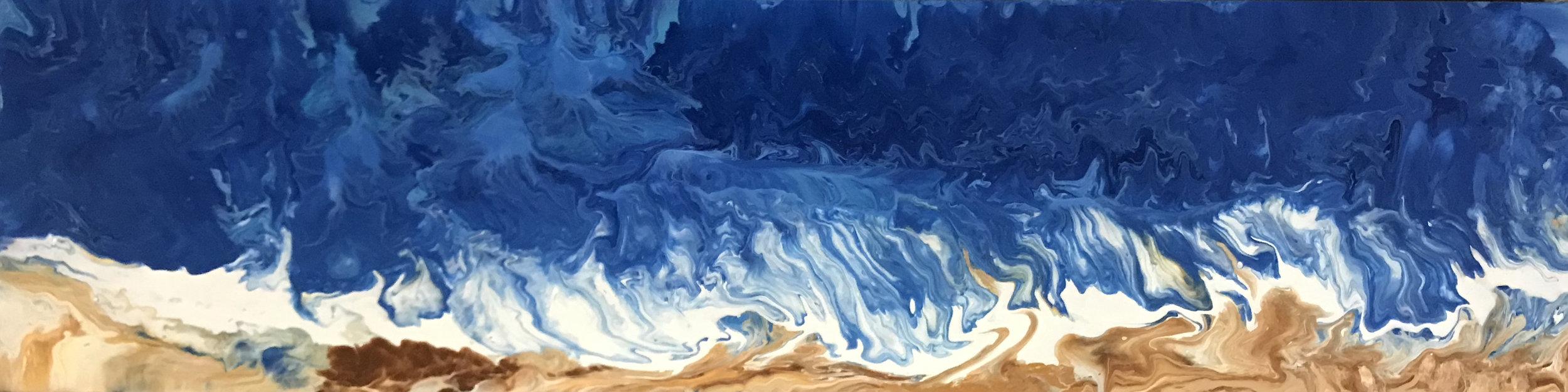 YaniPaints - Life is a Beach - acrylic on wood panel - 12x48 - 2016 - $1500.jpg