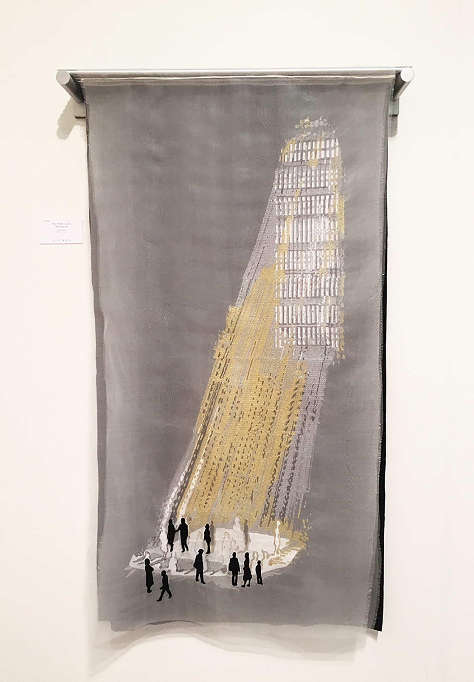 "BlairMartinCahill_The_Terminal_embroidery and metal_26""W X 4' H X  6""D_2017_$2500.jpg"
