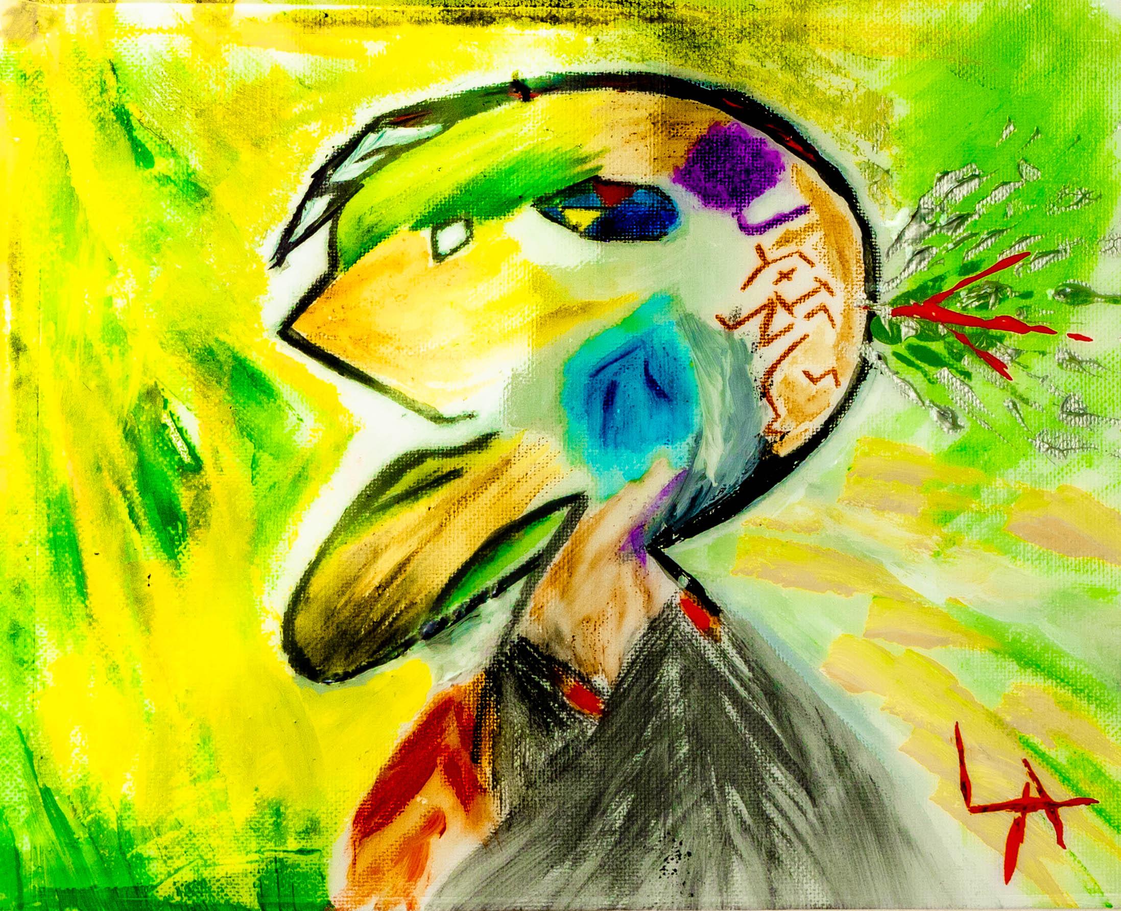 Louis Angel__Lime Juice__8_x10_ Canvas_Watercolors_Acrylic_Resin_2019_$250.jpg
