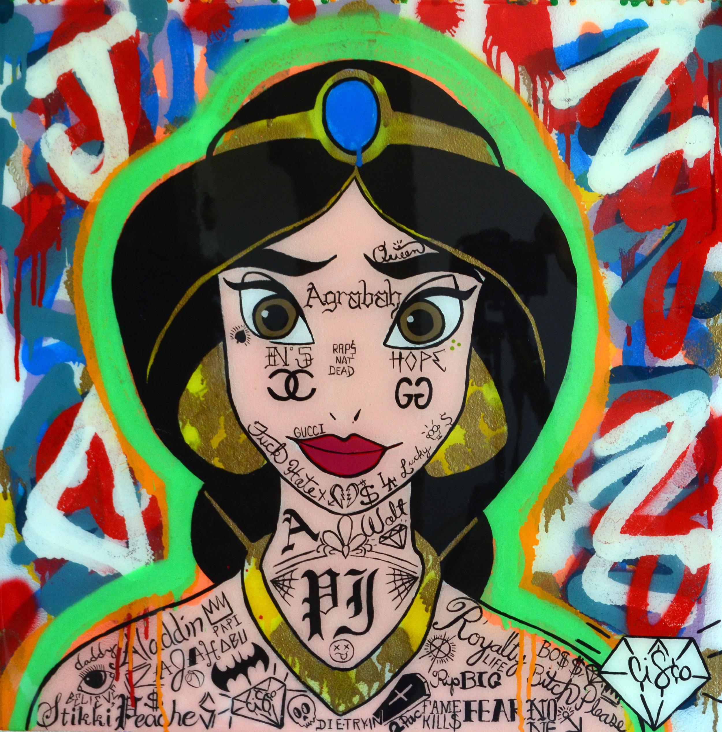 Cisco Lopez Jr Art_Cisco_Jasmine_22inx22in_Acrylic On Wood Panel Canvas_Edition 1of1_2018_$1150.jpg
