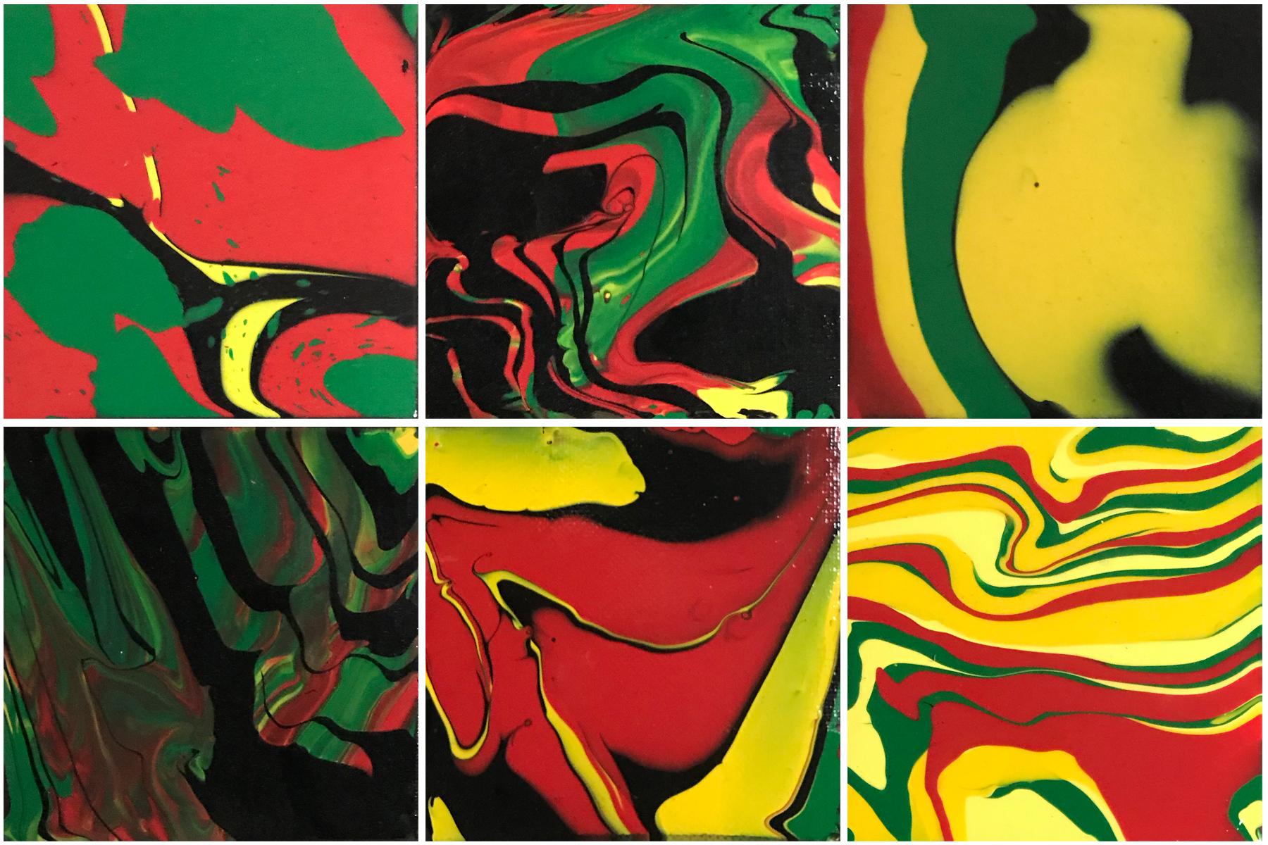 _YaniPaints - Jah Rastafari - acrylic on canvas - 6 4x4 panels - 2018 - $200.jpg