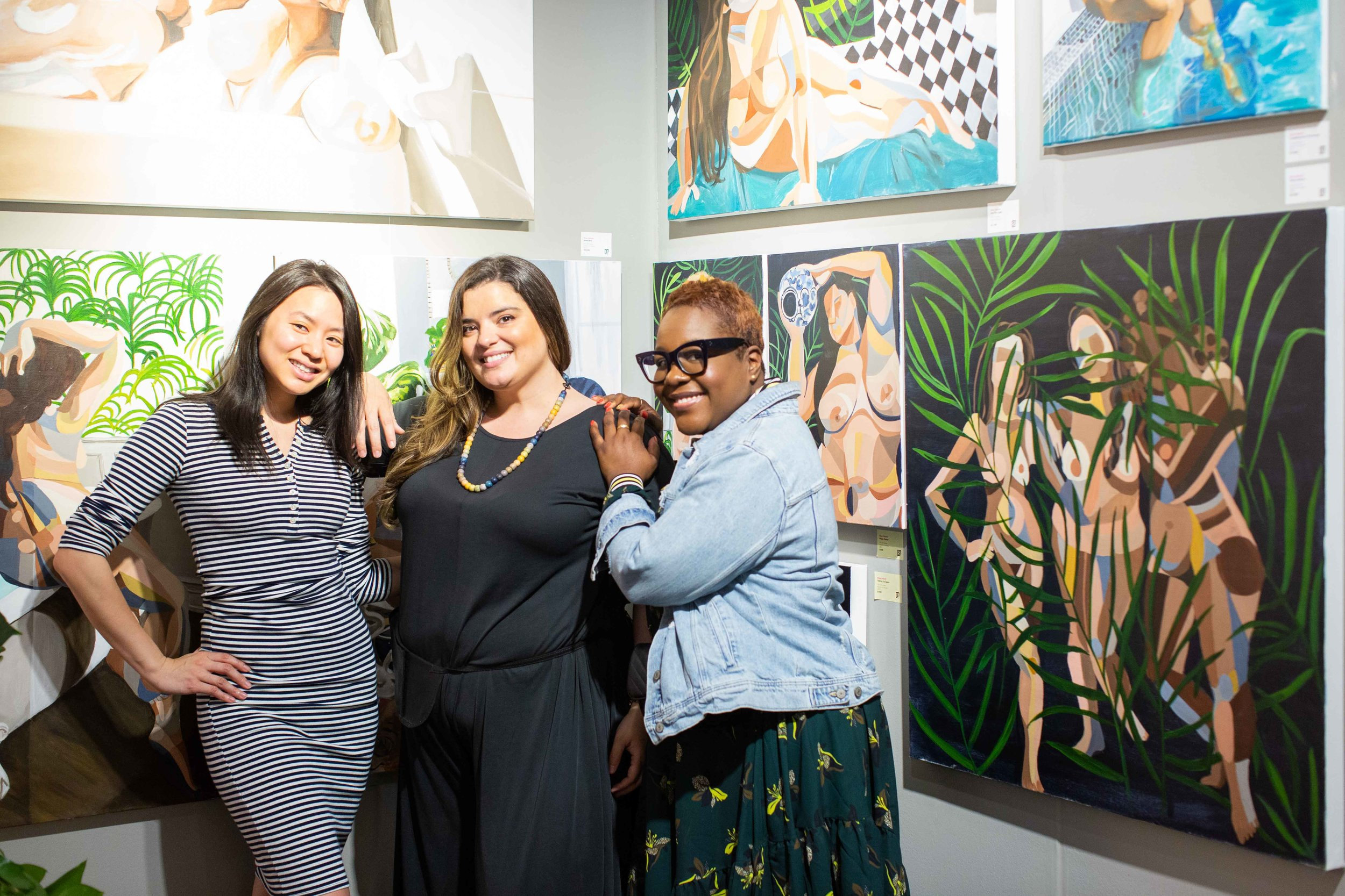 Valenti with Superfine! attendees. Photo by James Miille