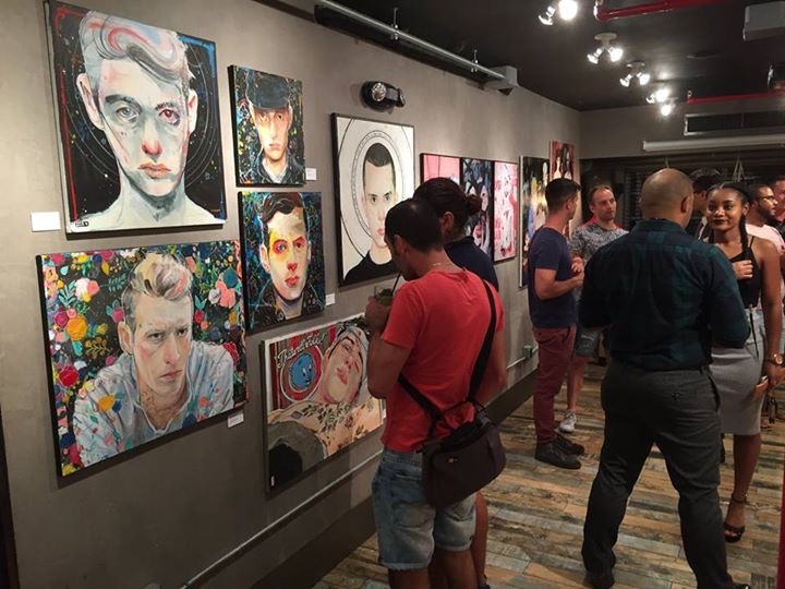 The crowds admiring and taking home queer art at Art Gaysel Miami Beach 2017.