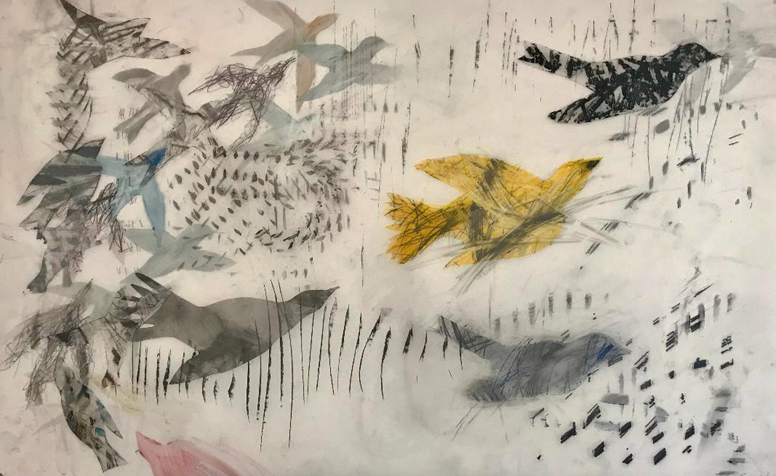 Yellow Bird with Flock, 34x46 in_edited-1.jpg