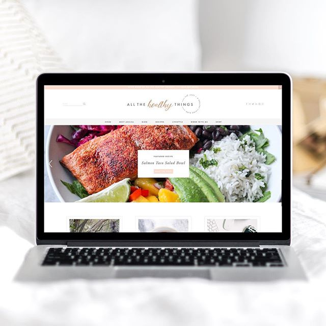 happy launch day! a huge congrats to my awesome client @allthehealthythings on the launch of her gorgeous new brad + blog! it has been an absolute joy working with you on this project, ashlea! be sure to go check out her new site → www.allthehealthythings.com