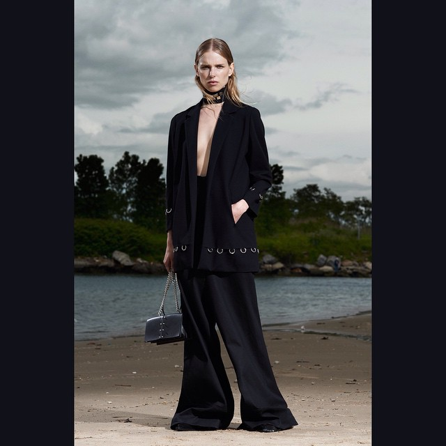 Ennio Capasa's resort collection is heavily influenced by the seventies with these wide-leg pants!    Lina Berg  (@_lina_berg_)  Shot by Dario Catellani  (@dariocatellani)  For Costume National  (@costumenational)    HOUSEtribeca.com  photo-retouching house    #photo #photoshoot #photography #photographer #dariocatellani #style #styling #stylist #model #modeling #linaberg #mua #costumenational #retouch #retouching #housestudios #nyc #newyorkcity #editorial #hair #design #designer #fashion #fashioneditorial #fashionphotography #r16
