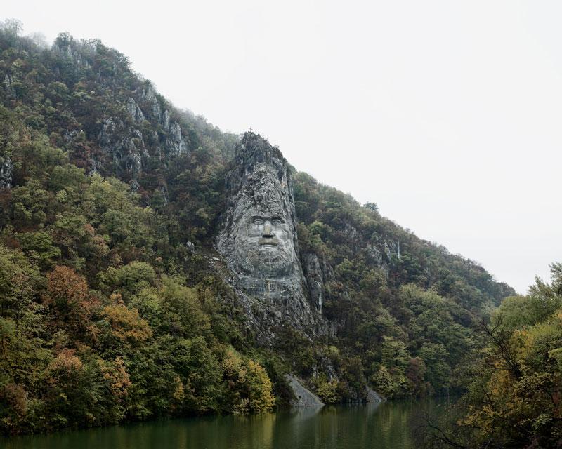mpdrolet :    Decebal statue (Near Orsova, South Romania), 2012  from  Notes From An Epilogue    Tamas Dezso