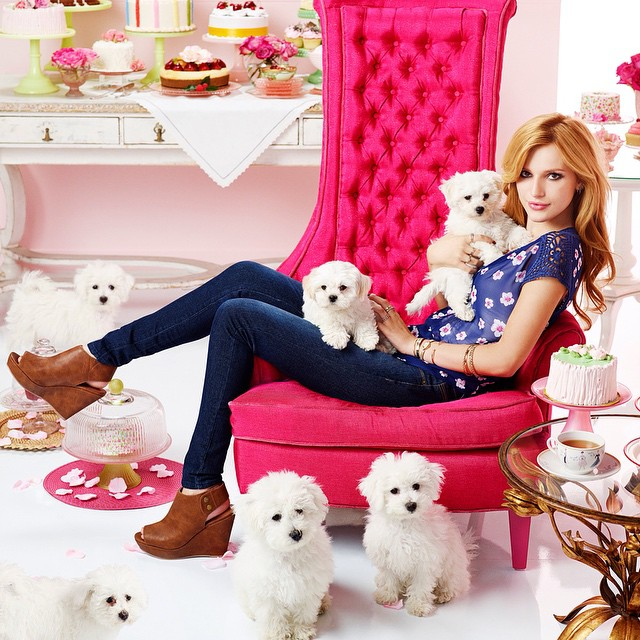 Happy Valentine's Day!  Bella Thorn (@bellathorne) shot for Candie's (@candiesbrand).     HOUSEtribeca.com  photo-retouching house    #valentines #valentinesday #puppies #adorable #cute #dog #housestudios #house #editorial #pink #bellathorne #candies #kohls #cadiesfavoritethings #patries #pastel #photoshop #photography #photoshoot #cake #food #yum