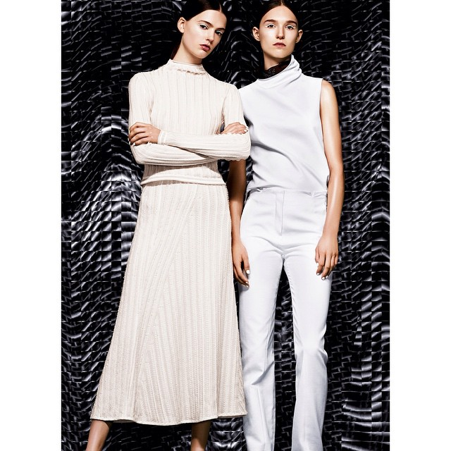 Photographed by @dariocatellani for @vmagazine     #fashion #editorial #retouching #vmagazine #dariocatellani #women #white #black #pattern #pose #photoshoot #photography #housestudios #models #modern #nyc #styling