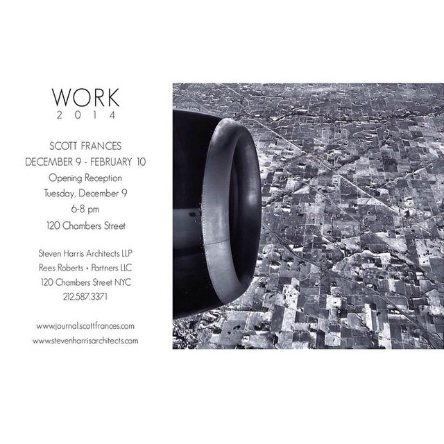 """Join us next Tuesday for the opening reception of """"Work"""" A collection of personal photographic works by Scott Frances. It will be at Steven Harris Architects on 120 Chambers Street. 6-8pm Hope to see you all there! @scottfrancesphoto     #gallery #artshow #tribeca #architecture #photography #fineart #scottfrances #stenharris #personal #work #printing #nyc #newyork #airplane #engine #savethedate #housestudios     HOUSEtribeca.com  photo-retouching house"""