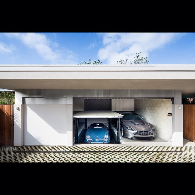 Photographed by @scottfrancesphoto for #stevenharrisarchitects. Featured in @townandcountrymag! #photography #Porsche #collection #sandiego #california #goodlife #garage #car #nicecars #automobile #rare #antique #custom #blue #silver #blueskies #perfect #love #mancave #sleek #living #architecture #housestudios ____________________________________  HOUSEtribeca.com  photo-retouching house
