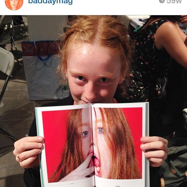 #reblog of @baddaymag photo by @jasonnocito666 #fashion #redhead #housestudios