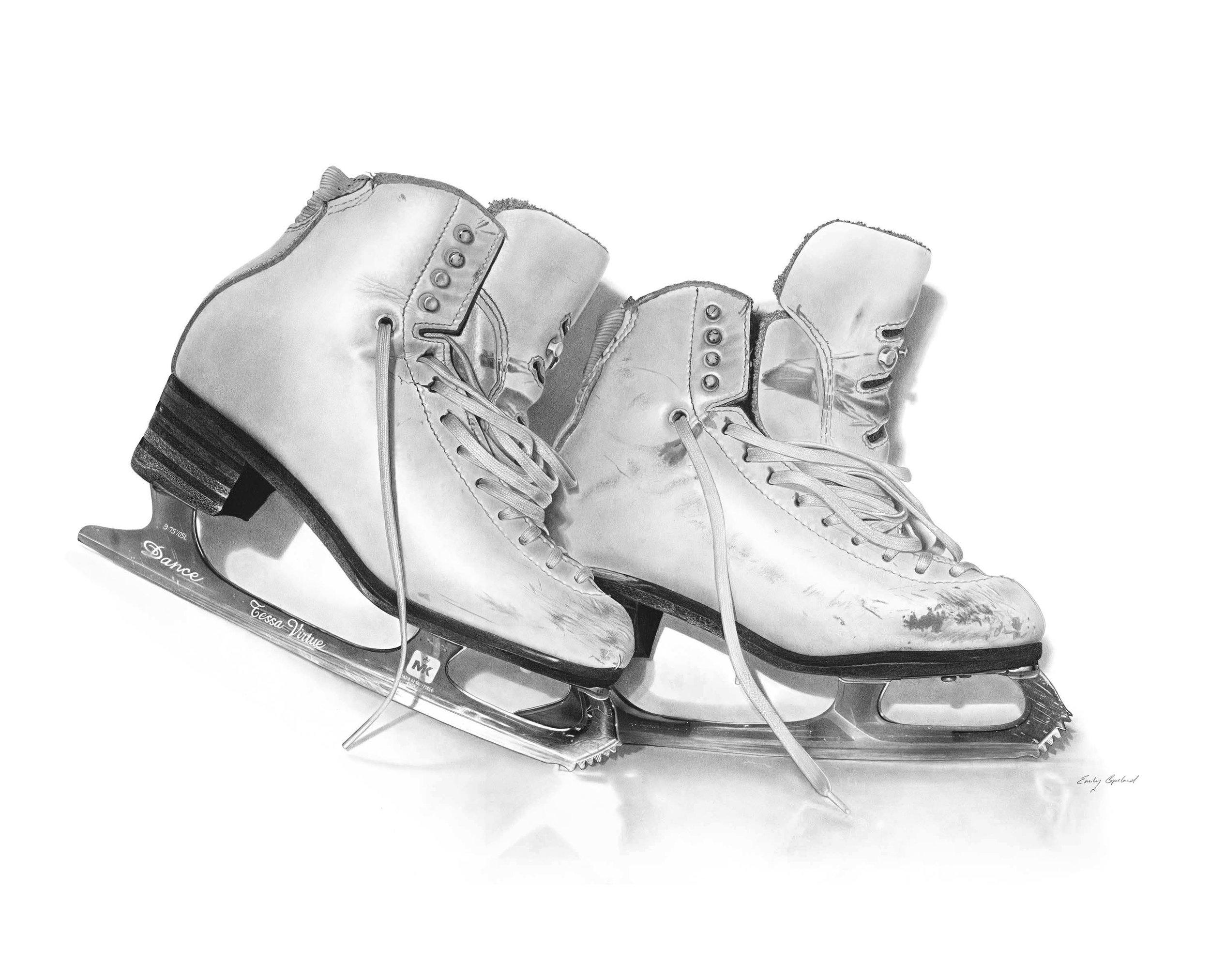 Tessa Virtue's Olympic Skates