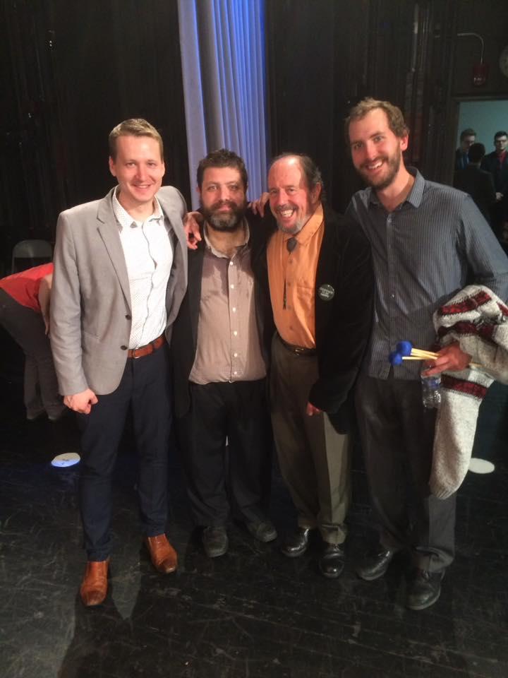 Heavy company at Eau Claire Jazz Festival: John Kizilarmut, Bob Bowman, and Peter Schlamb