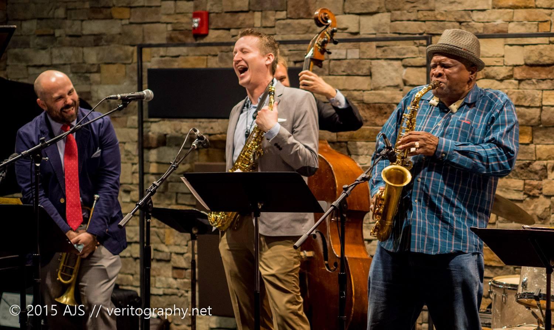 W/ Bobby Watson and Clint Ashlock at Take Five (Photo Credit: Andy Schwartz)