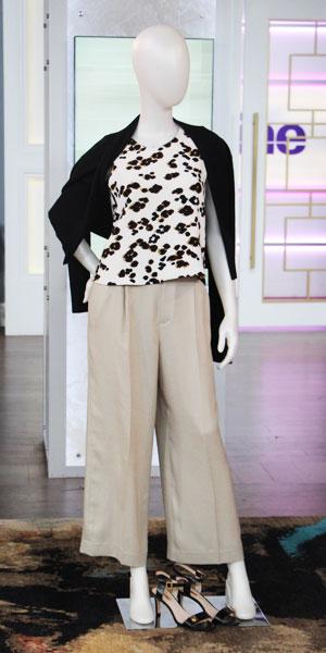 Shop Look 3:  H&M printed tank | sweater | trousers | Marshalls heels