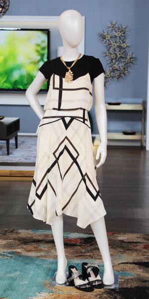 Shop Look 2:  t-shirt | dress | Winners block sandals | necklace