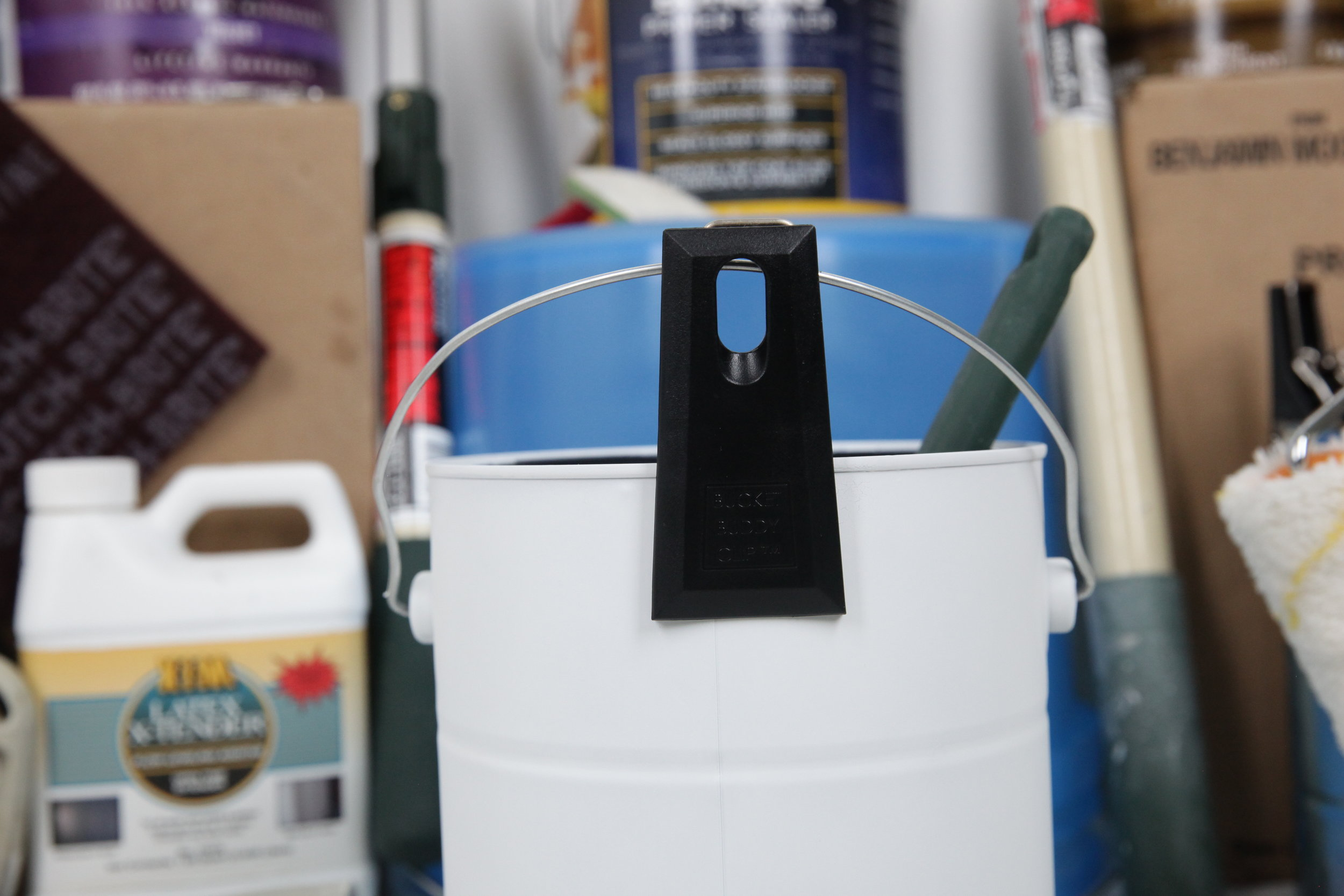 ANONYMOUS: THE BUCKET BUDDY CLIP IS AWESOME! - This Invention is a revolutionary tool for anyone who uses a brush and can to paint interior and exterior houses, commercial or residential!It frees up both hands to climb ladders, frees up one hand to balance with/hold steady with when your brushing. It also prevents your bucket from tipping over and spilling while it is attached to your hip. I really works awesome and is an essential tool that every painter should have. If you don't believe me, you should try it for yourself! It rocks!