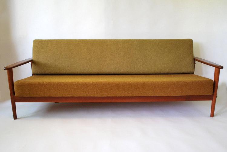 Fine Danish Teak Convertible Couch