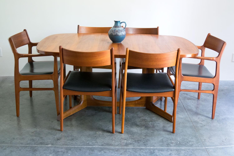 Excellent Danish Walnut Dining Table By Gudme Mobelfabrik Sold Vintage Modern Maine