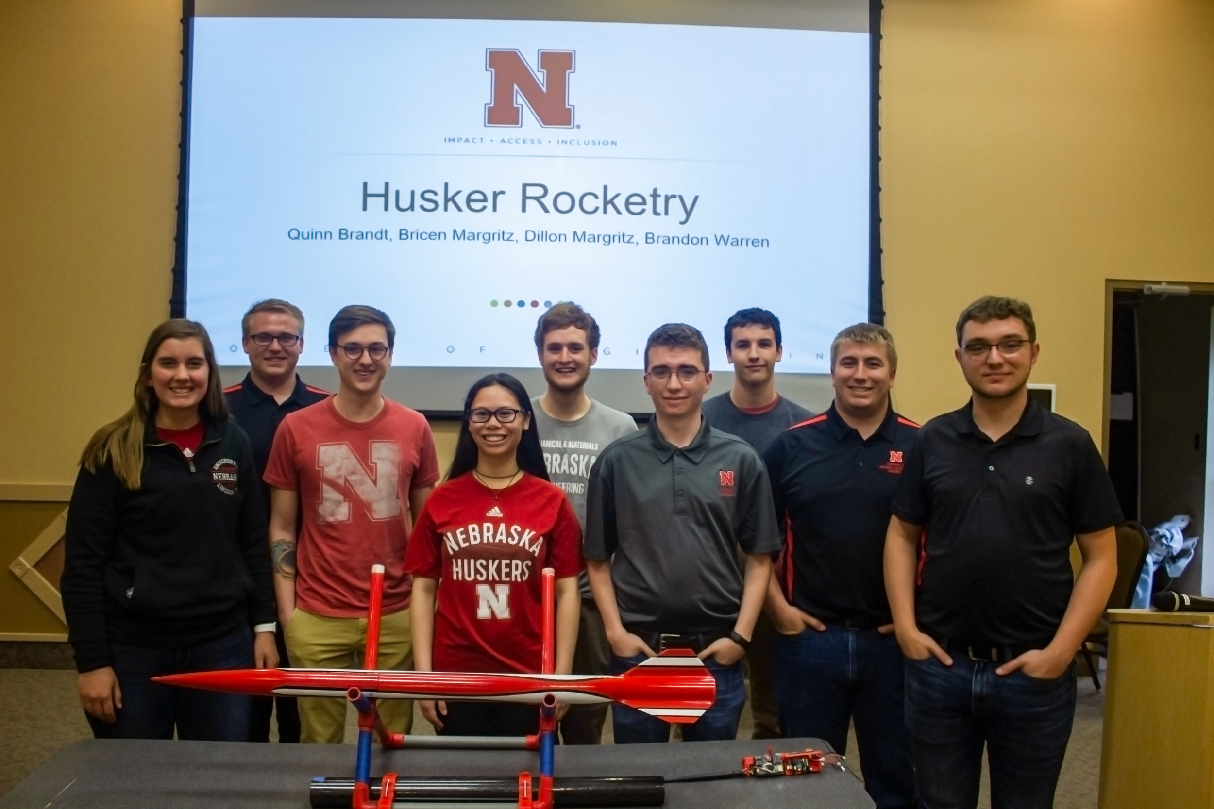 2018-2019 Aerospace Team Photo at Competition