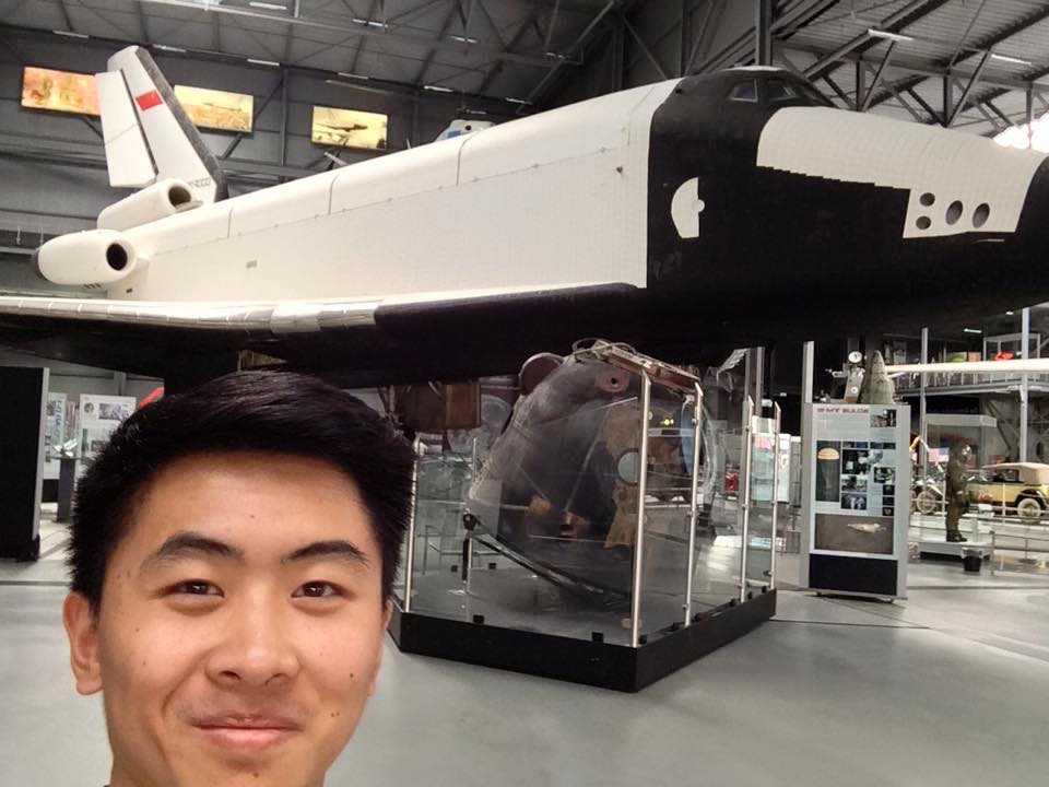 Me with the Buran and Soyuz!