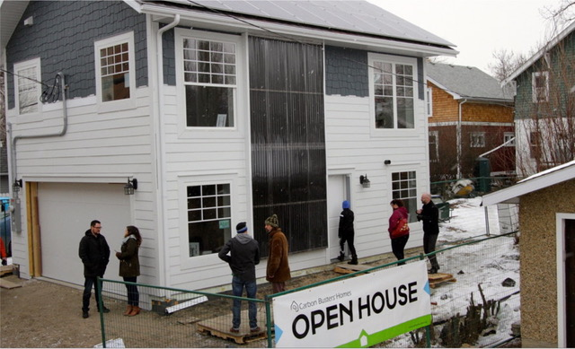 """Carbon Neutral Laneway Home     Godo: """"Regular homes in Alberta cannot be net zero homes because they use too much energy."""""""