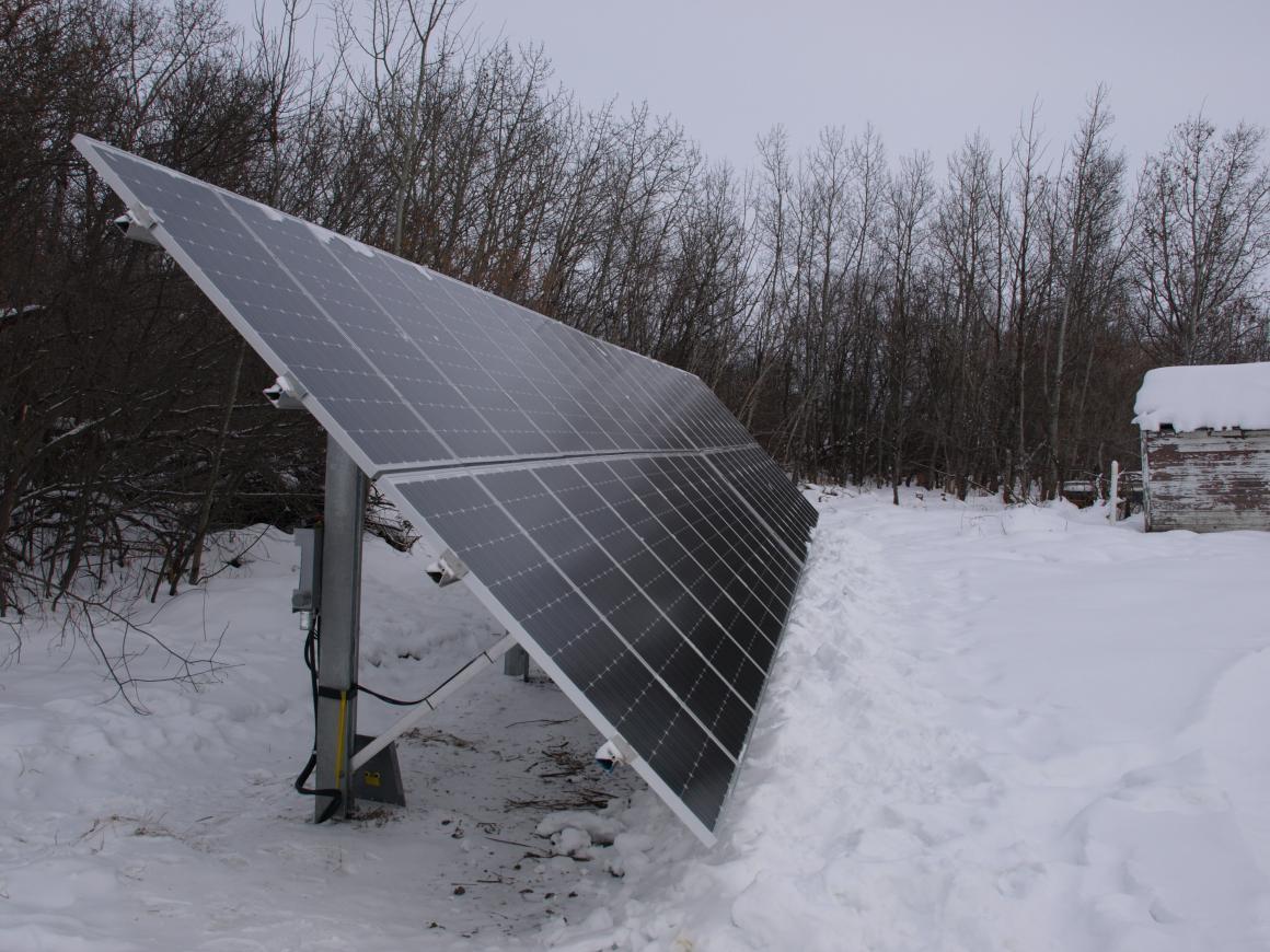 Edberg Farm Solar system, From the Solar society of Alberta Website