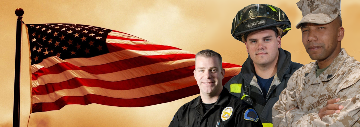 ACTIVE DUTY DISCOUNT - We offer a 25% discount to all active duty military, police and firefighters.