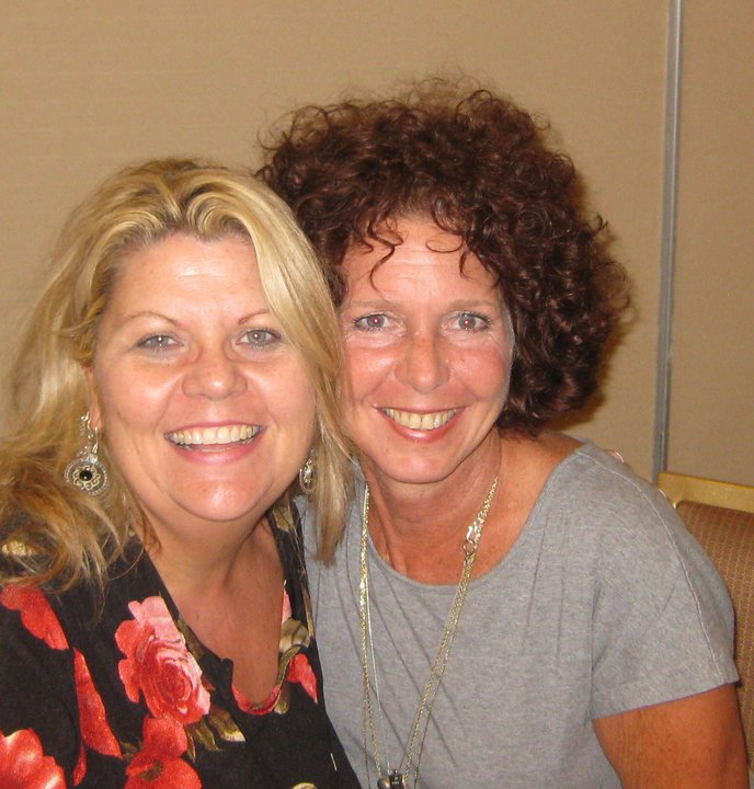 Pictured with Kit Gruelle, Impact/Outreach Coordinator for Private Violence Film Project, Advocate and Community Educator