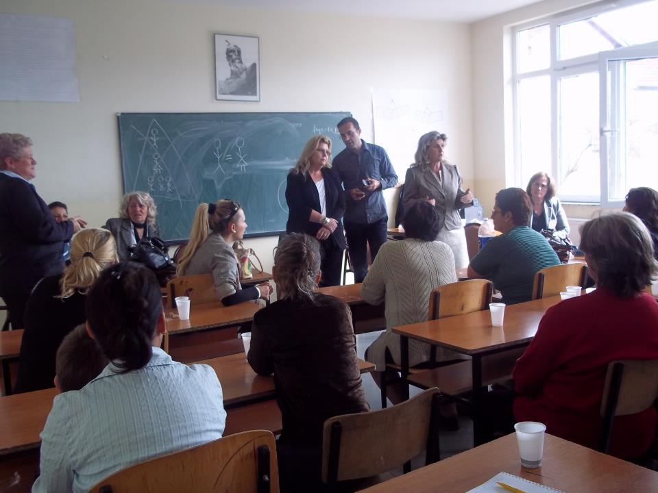 Town meeting with women in Kosovo