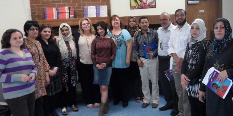 Meeting with leaders from a number of Middle East countries who are at the forefront of domestic violence movements in their homelands