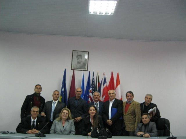 Meeting with community leaders, Kosovo