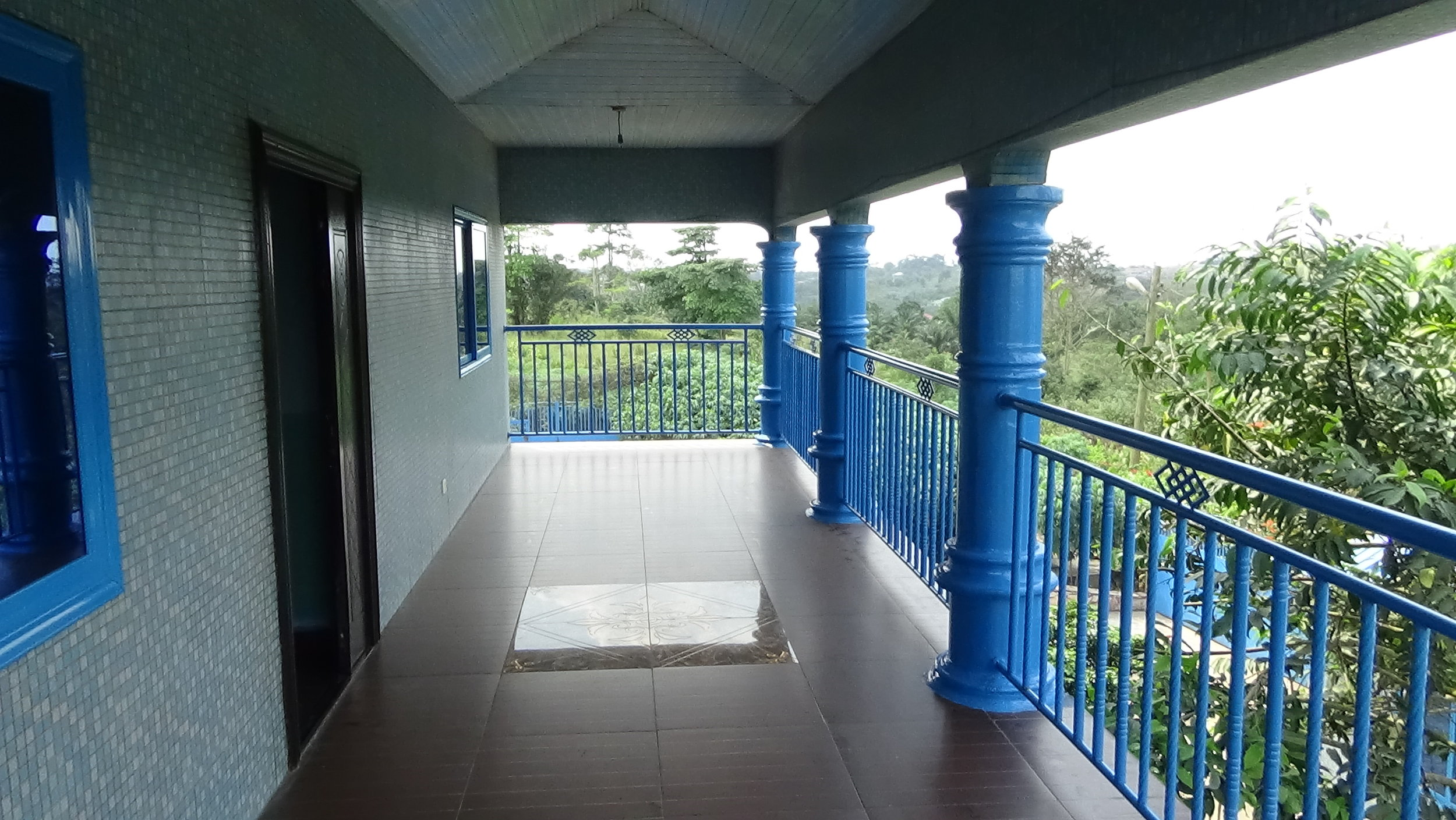 Upstairs porch.